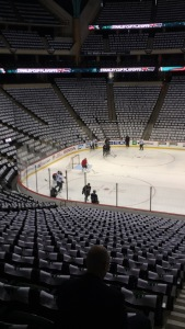 Shooting morning skate with 100+ other members of the media was much different than my day to day responsibilites